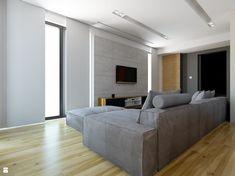 ścianka Tv z betonu architektonicznego - zdjęcie od Michał Ślusarczyk - Salon - Styl Nowoczesny - Michał Ślusarczyk
