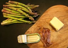 Asparagus with anchovy browned butter