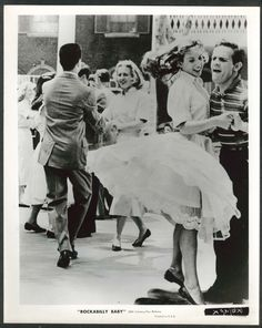 """Teenagers dance sequence in the 1957 movie """"Rockabilly Baby""""."""