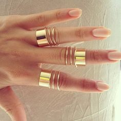 pretty gold rings!
