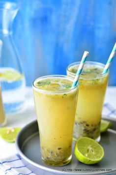 Passion Fruit Lemonade.  Add vodka or gin for a perfect summer cocktail!