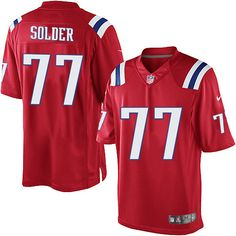b397e8dc3 Nike Limited Nate Solder Red Men s Jersey - New England Patriots  77 NFL  Alternate Patriots