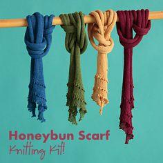 NobleKnits.com - Classic Elite Honeybun Scarf Knitting Kit, $19.00 (http://www.nobleknits.com/classic-elite-honeybun-scarf-knitting-kit/)