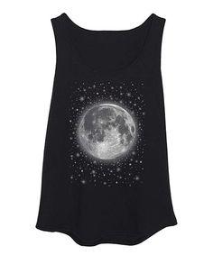 Love this Black Full Moon & Stars Tank - Plus by LC trendz Plus on #zulily! #zulilyfinds