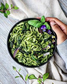 Good morning Beautiful people. How about having these yummy Spinach noodles My Indian take on it very interesting flavours.