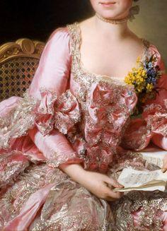 Alexander Roslin (Swedish, 15 July 1718 – 5 July 1793 The Artist Marie Suzanne Giroust, 1770 (detail) 18th Century Dress, 18th Century Fashion, 17th Century, Renaissance Paintings, Renaissance Art, Aesthetic Painting, Aesthetic Art, Rococo Fashion, Art Vintage