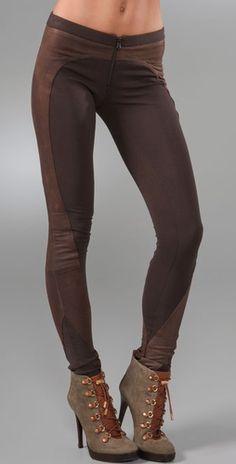 alice + olivia Exposed Zip Riding Pants