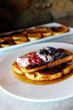 French Toast with berry butter - made this tonight and it was yummy.  Made the french toast a tad different, but the berry butter is so good!