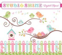 Digital+Clipart++The+Best+Nest++Cute+Birds+Clip+art+by+StudioShine,+$5.00