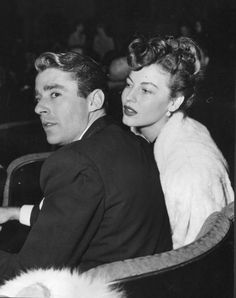Actress Ava Gardner (1922-1990), with actor Peter Lawford (1923-1984), date unknown.