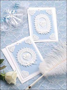 Pearls & Lace Wedding Card Crochet Pattern