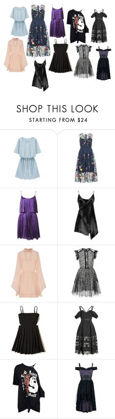 """Sem título #5"" by fusion9 on Polyvore featuring Halston Heritage, Boohoo, Emilio Pucci, Elie Saab, Hollister Co., self-portrait e Disney"