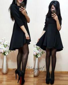 Платье шикарное объемное с клешной юбкой каскадный пошив черный в интернет магазине Sosiska #сукня #платьякиев #платьяхарькв #платьяодесса #платьяльвов #плаття #платтячко