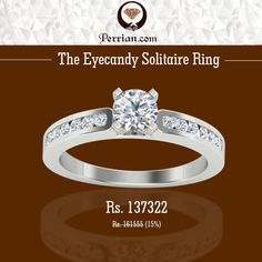 The Eyecandy #Solitaire #Ring  Exclusively available at http://www.perrian.com