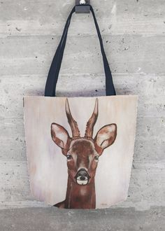 ROE DEER - DEAU  http://shopvida.com/collections/dominique-janssens  #roe #deer #christmas #fashion #pillow #interior #forest #nature #home #decoration #luxury #scarf #tote #bag