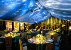 Lower ceiling w/ tent and celestial lighitng
