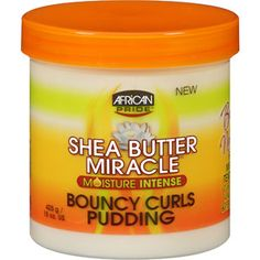 African Pride Shea Butter Miracle Bouncy Curls Pudding, 15 oz at Walmart!  I'm going to try this for my kinky, frizzy hair!