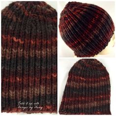 Handmade Mens Beanie Hat  Hand Knit  Brown by JazzitUpwithDesigns, $23.00