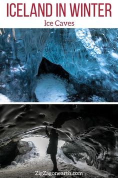 ice cave tours in Iceland -- Iceland Travel Tips | Iceland things to do | Iceland Itinerary | Iceland Scenery | Iceland Trip | Iceland Landscapes | Iceland Photography | things to do in Iceland | Iceland in Winter #iceland Guide To Iceland, Tours In Iceland, Iceland Road Trip, Iceland Travel Tips, Europe Travel Tips, Iceland Destinations, Iceland Landscape, Cave Tours, Reisen In Europa