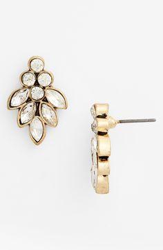 Love these crystal leaf earrings.
