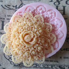 Elegant Delicate Floral Fondant Mold for Cake Decor by hahaDIY, $6.99