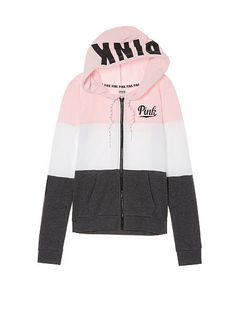 Perfect Full-Zip Hoodie PINK Pink Sweatshirt With Plaid Mini Skirt is the best How To Wear Fashion Girl Teen Fashion Outfits, Pink Outfits, Fall Outfits, Cute Outfits, Vs Pink Outfit, Victoria Secret Outfits, Victoria Secret Pink, Love Pink Clothes, Pink Wardrobe