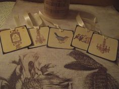 2   Gift  Tags  With  various Vintage  Design  And  by mslizz, $4.75