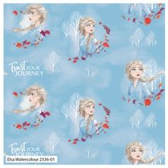 Frozen Elsa Watercolour Disney Cotton Fabric Sew Over It Patterns, New Look Patterns, Simplicity Patterns, Watercolor Disney, Watercolour, Frozen Fabric, Christmas Fabric Crafts, Disney Fabric, Halloween Fabric