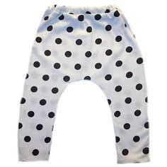 22c13faef Jacqui's Baby Girls' Black Polka Dot Leggings, 12-24 Months Polka Dot  Leggings