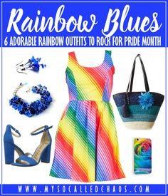 6 Adorable Rainbow Outfits to Rock for Pride Month http://mysocalledchaos.com/2017/06/adorable-rainbow-outfits.html