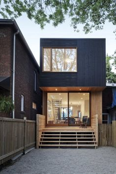 Dark wood and deck