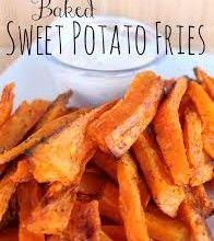 CHEAT DAY TREAT ( Baked Sweet Potato Fries)