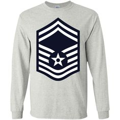 Air Force Senior Master Sergeant Rank -01 LS Ultra Cotton Tshirt