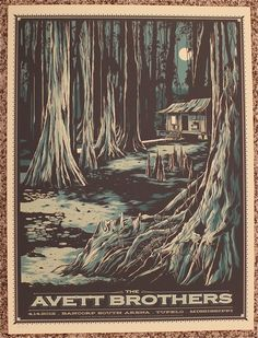 The Avett Brothers Mississippi Concert Poster by Ken Taylor