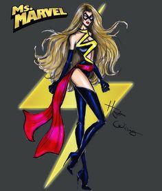 Hayden Williams Fashion Illustrations | Marvel Divas by Hayden Williams : Ms. Marvel