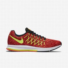 2c5bdc6318ac8 $109.42 nike air zoom red,Nike Womens Hyper Orange/University Red/Volt Air  Zoom Pegasus 32 Print Running Shoe