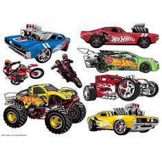 Hot Wheels Birthday, Hot Wheels Party, Monster Truck Birthday, Monster Trucks, Car Birthday, Character Sheet, Character Art, Anniversaire Hotwheels, Bolo Hot Wheels