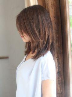 Hair Color And Cut, Cut My Hair, Hair Cuts, Medium Hair Styles, Short Hair Styles, Japanese Haircut, Haircuts With Bangs, Shoulder Length Hair, Hair Lengths
