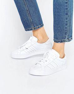 Adidas | adidas Originals – Court Vantage – Weiße Sneaker in Schlangenhautoptik