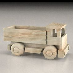 Woodworking Toys, Easy Woodworking Projects, Wood Projects, Wood Crafts, Diy And Crafts, Wood Phone Holder, Cowboy Crafts, Wooden Toy Trucks, Handmade Wooden Toys