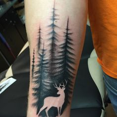 Tattoos, deer, nature