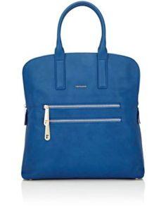 TRUSSARDI Top-Zip Shopping Tote Bag. #trussardi #bags #leather #hand bags #tote #