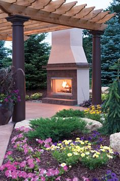 Beautiful lawn and gardens into the fall and winter - houseplansandmore.com