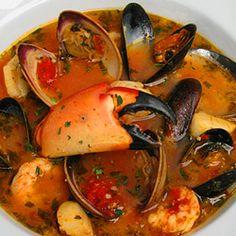 cioppino! italian seafood stew loaded with fresh seafood.