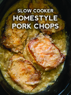 Homestyle Slow Cooker Pork Chops These homestyle pork chops have a deliciously thick gravy that goes perfectly with the meat, so all you have to do is throw together some potatoes or veggies and you've got a full meal. Brunswick Stew, Crockpot Dishes, Pork Dishes, Porkchop Recipes Crockpot, Recipes Using Pork Chops, Crockpot Meals Easy, Pork Loin Recipes Slow Cooker, Potatoes Crockpot, Crockpot Meat