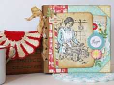 Two Crazy Crafters: Vintage Style Recipe Album