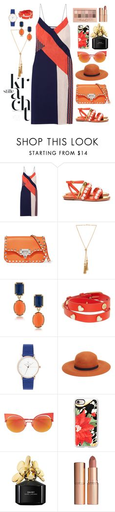 """My sister request"" by nilampermatasary ❤ liked on Polyvore featuring Diane Von Furstenberg, Tory Burch, Valentino, Chloé, 1st & Gorgeous by Carolee, MANGO, Fendi, Casetify, Marc Jacobs and Maybelline"