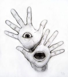 Trippy stuff to draw: creative drawing ideas - musely Creepy Sketches, Scary Drawings, Trippy Drawings, Dark Art Drawings, Pencil Art Drawings, Art Drawings Sketches, Eyeball Drawing, Surrealism Drawing, Creepy Art