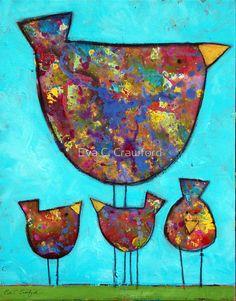 4 Birds by Eva C. Crawford