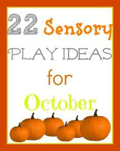 22 creative, cheap, sensory play ideas for fall!